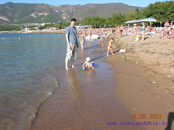 2007 September. Gelendzhik, a sandy beach.